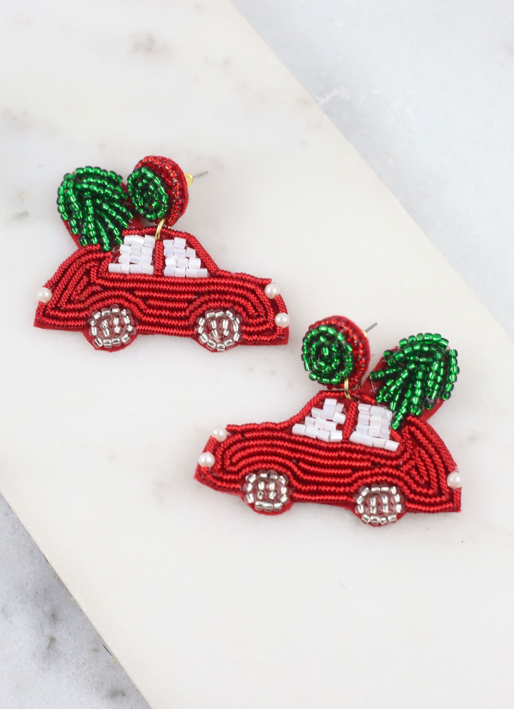 Griswold Christmas Vacation Earring Red - Caroline Hill