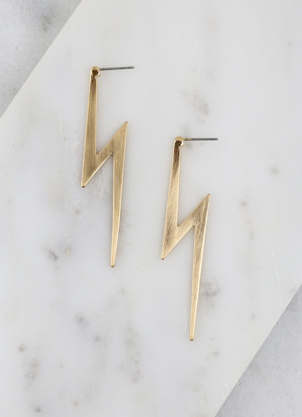 Gryffindor Gold Lightning Bolt Earring - Caroline Hill