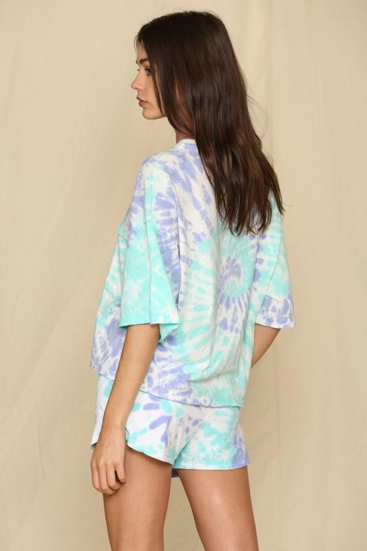 Happy After All Mint and Purple Tie-Dye Top - Caroline Hill