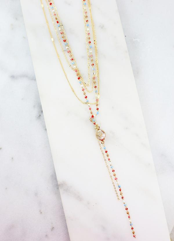 Harriston Multi Bead and Pearl Layered Necklace - Caroline Hill