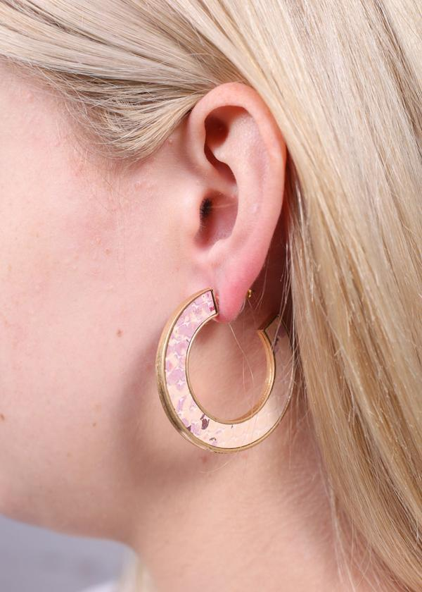 Harvis Metallic Snake Hoop Blush - Caroline Hill
