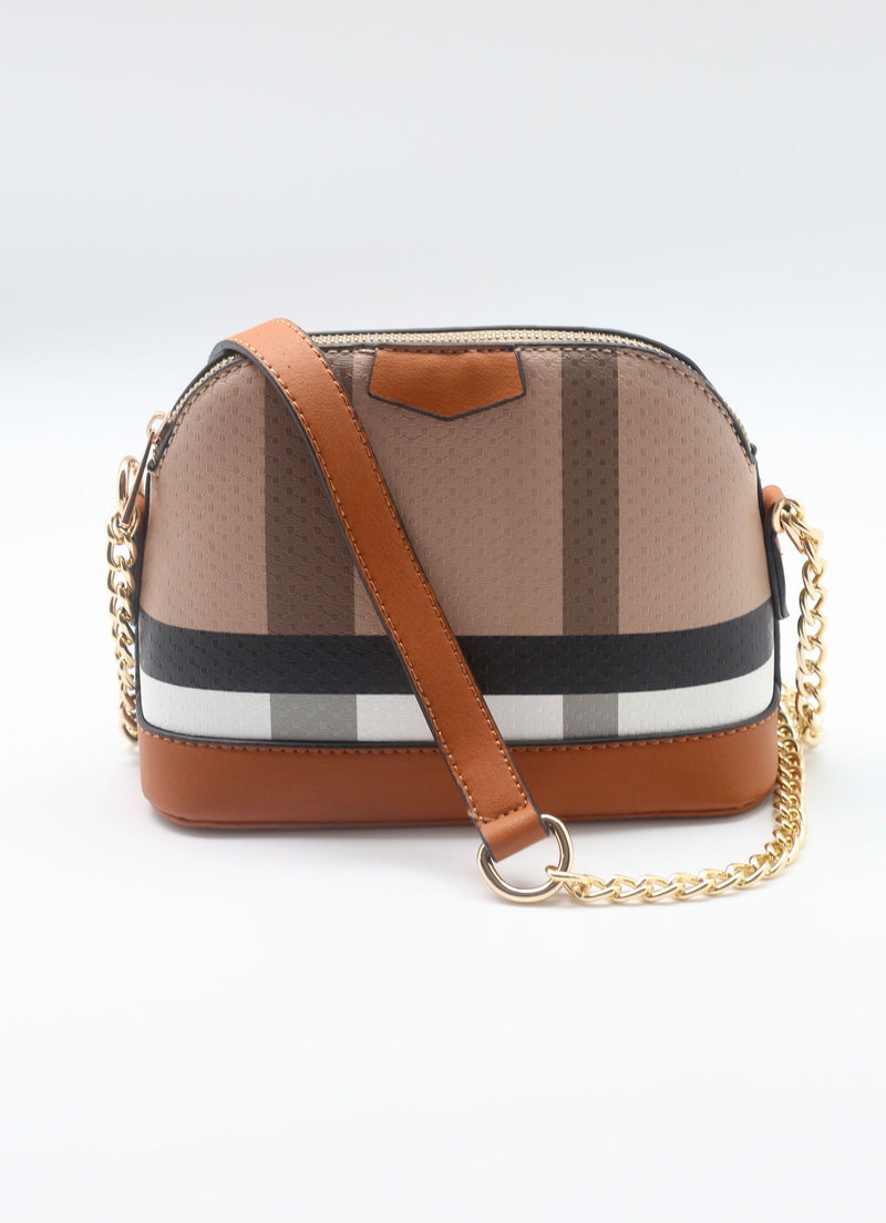 Heller Plaid Crossbody Bag Brown - Caroline Hill