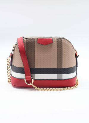 Heller Plaid Crossbody Bag Red - Caroline Hill