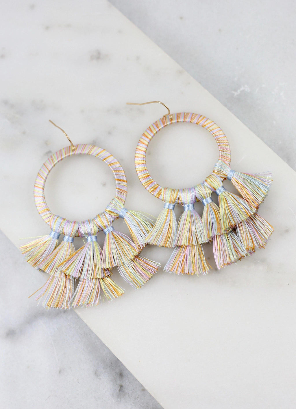 Helma Tassel Earring Light Multi - Caroline Hill