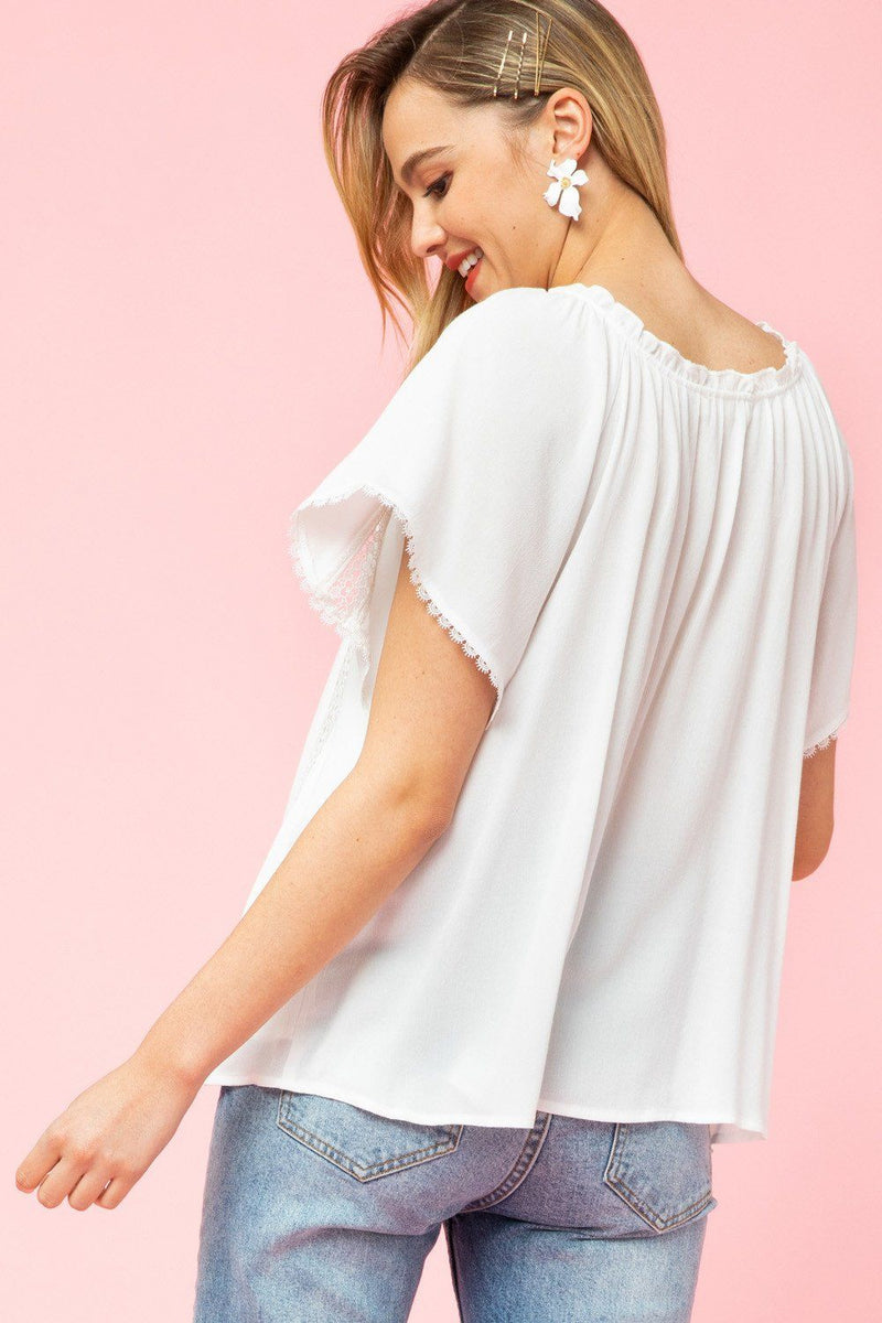 Here Comes the Sun White Button Up Top - Caroline Hill