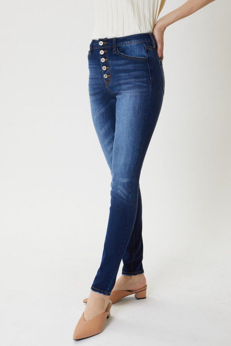 Holle Button Fly Super Skinny Medium Wash Jeans - Caroline Hill