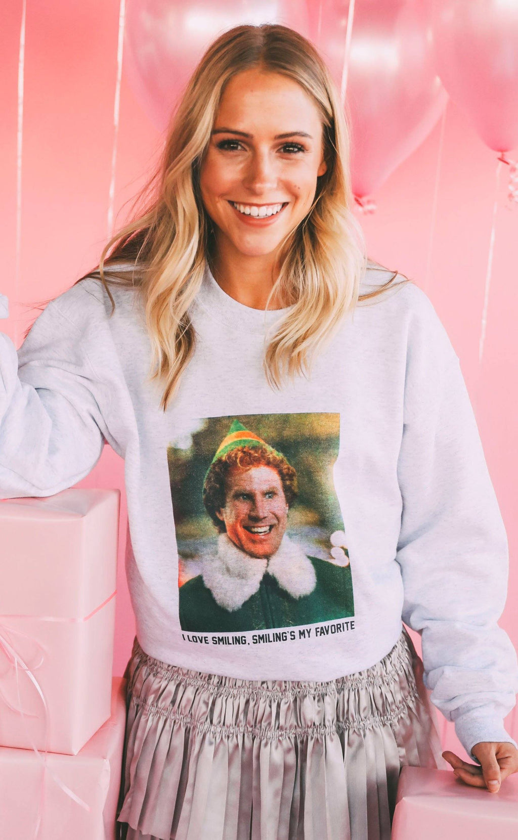 I Love Smiling Sweatshirt By Friday + Saturday - Caroline Hill