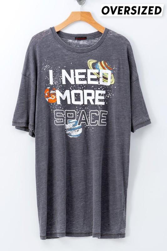 I Need More Space Charcoal Oversized Tee - Caroline Hill