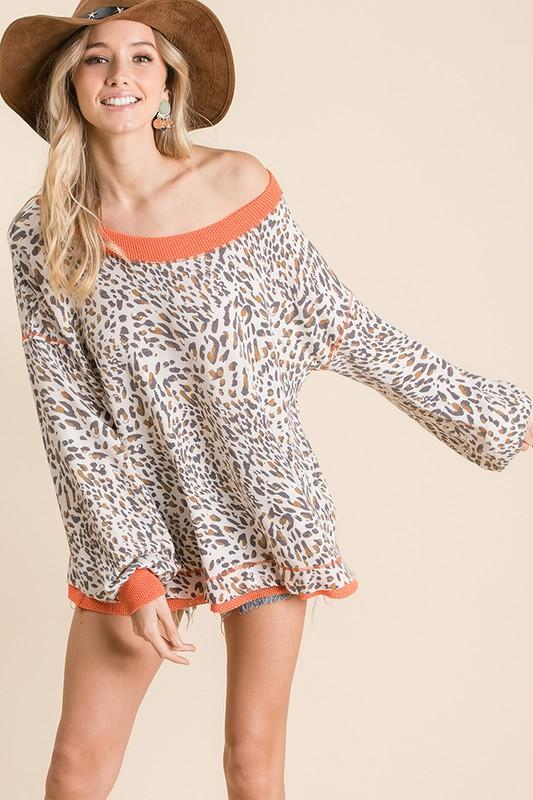 In Case You Didn't Know Animal Print Top - Caroline Hill