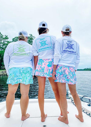Island Collection Classic Logo Long Sleeve - Aqua - Caroline Hill