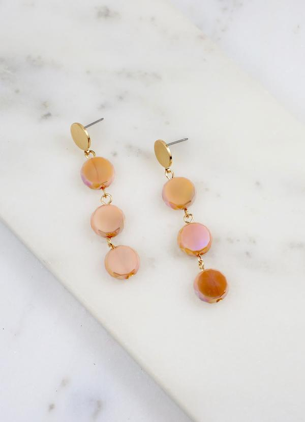 Jeffries Glass Drop Earring Natural - Caroline Hill