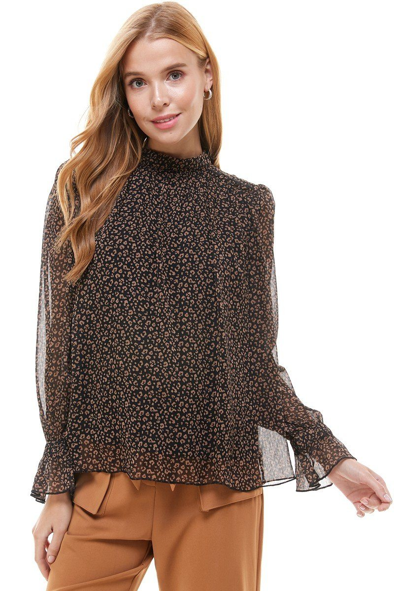 Just Go With It Leopard Blouse - Caroline Hill