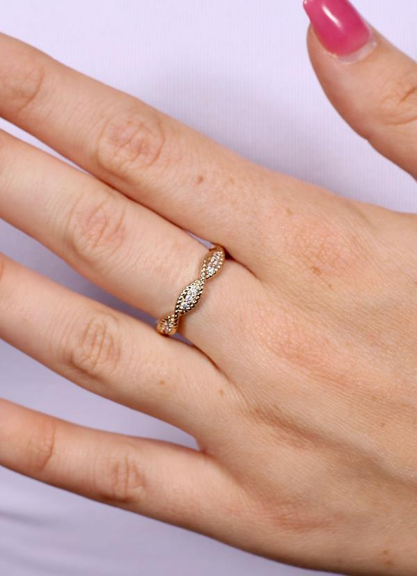 Kaila Twisted Eternity Ring Gold - Caroline Hill