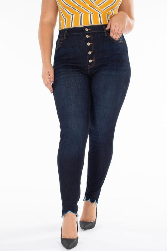 KanCan Pretty Plus Dark Denim Skinny Jeans - Caroline Hill