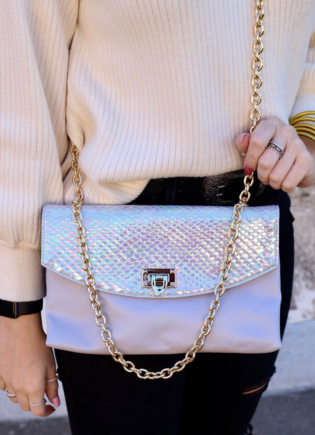 Kate Mermaid Hologram Crossbody - Caroline Hill