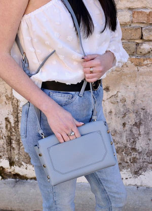 Kathy Crossbody Dusty Blue - Caroline Hill