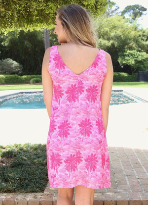 Kimmy V Back Dress Pig Island Pink - Caroline Hill