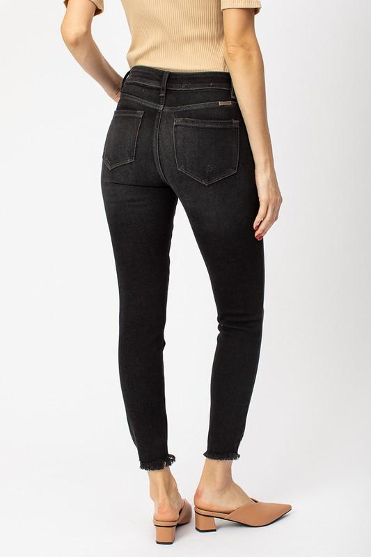 Kinzley Dark Gray Distressed Kancan Skinny Jean - Caroline Hill