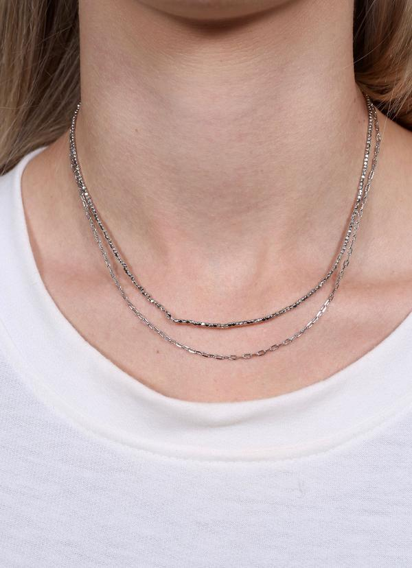 Koprani Layered Necklace Silver - Caroline Hill