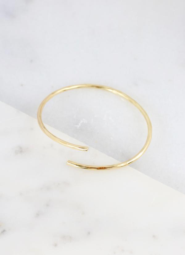 Lafferty Hammered Gold Cuff Bracelet - Caroline Hill