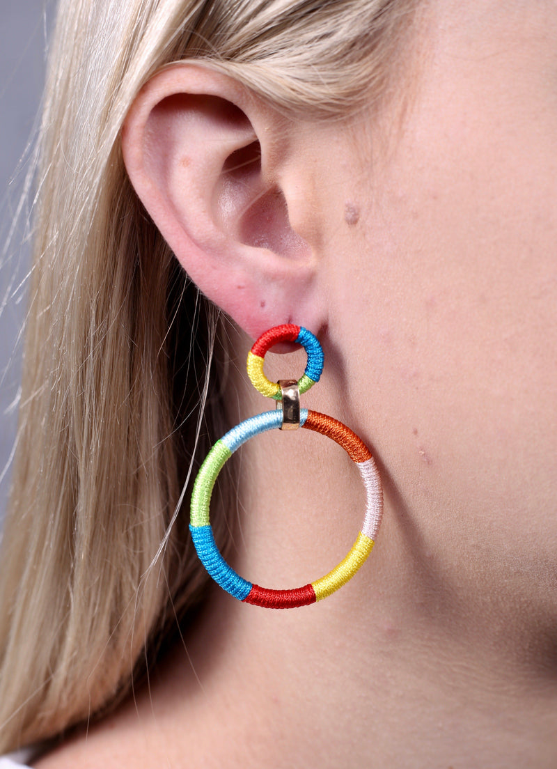 Lamens Multi Wrapped Round Earring - Caroline Hill