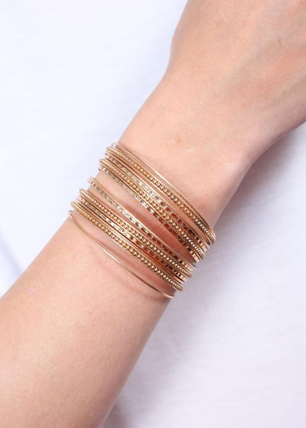 Larris Multi Layer Bracelet Gold - Caroline Hill