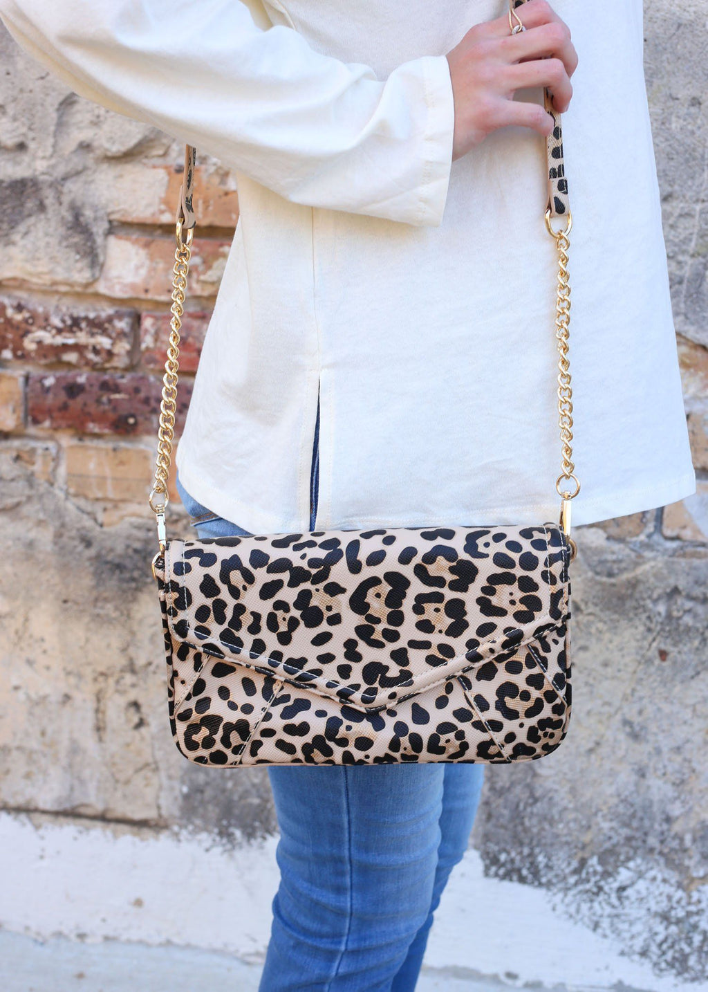 Lauren Tan Leopard Crossbody - Caroline Hill