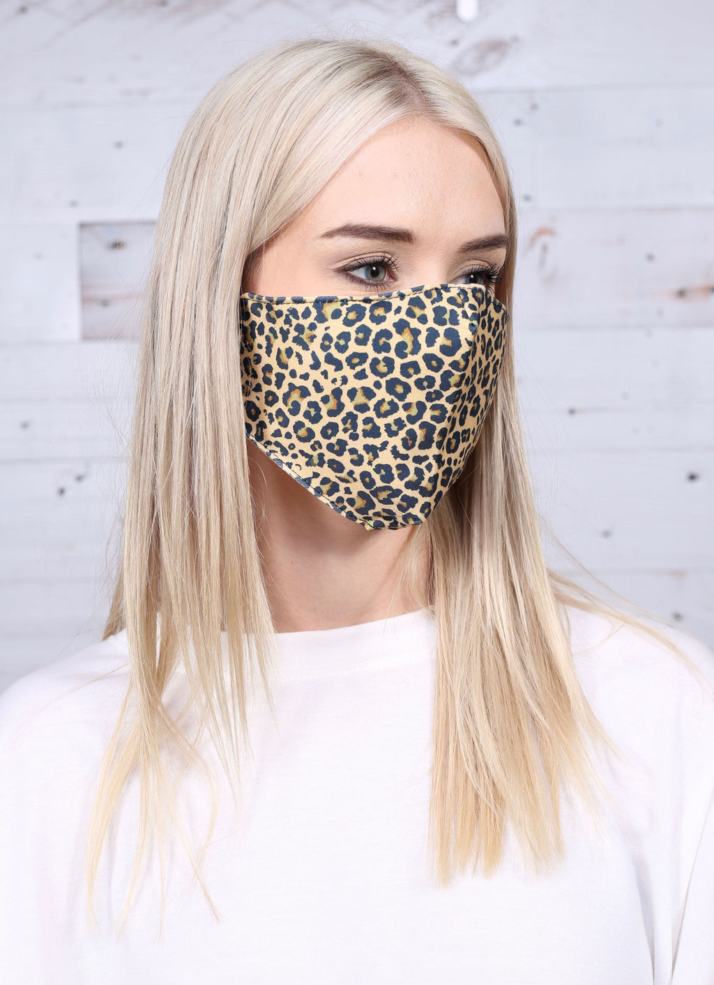 Layon Leopard Face Mask Tan - Caroline Hill