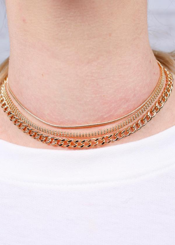 Leemons Layered Necklace Gold - Caroline Hill