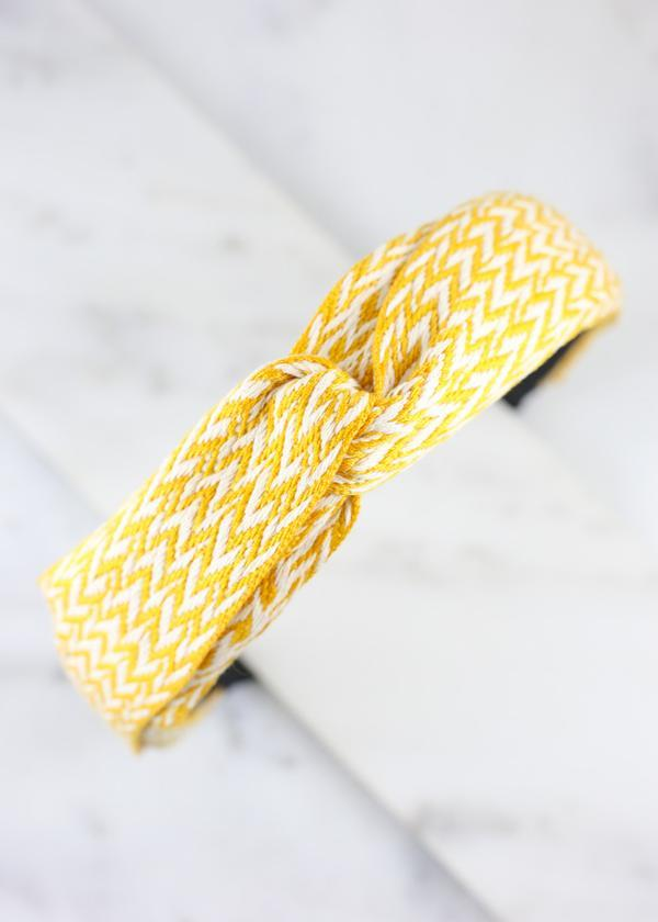 Lenora Chevron Headband Yellow - Caroline Hill