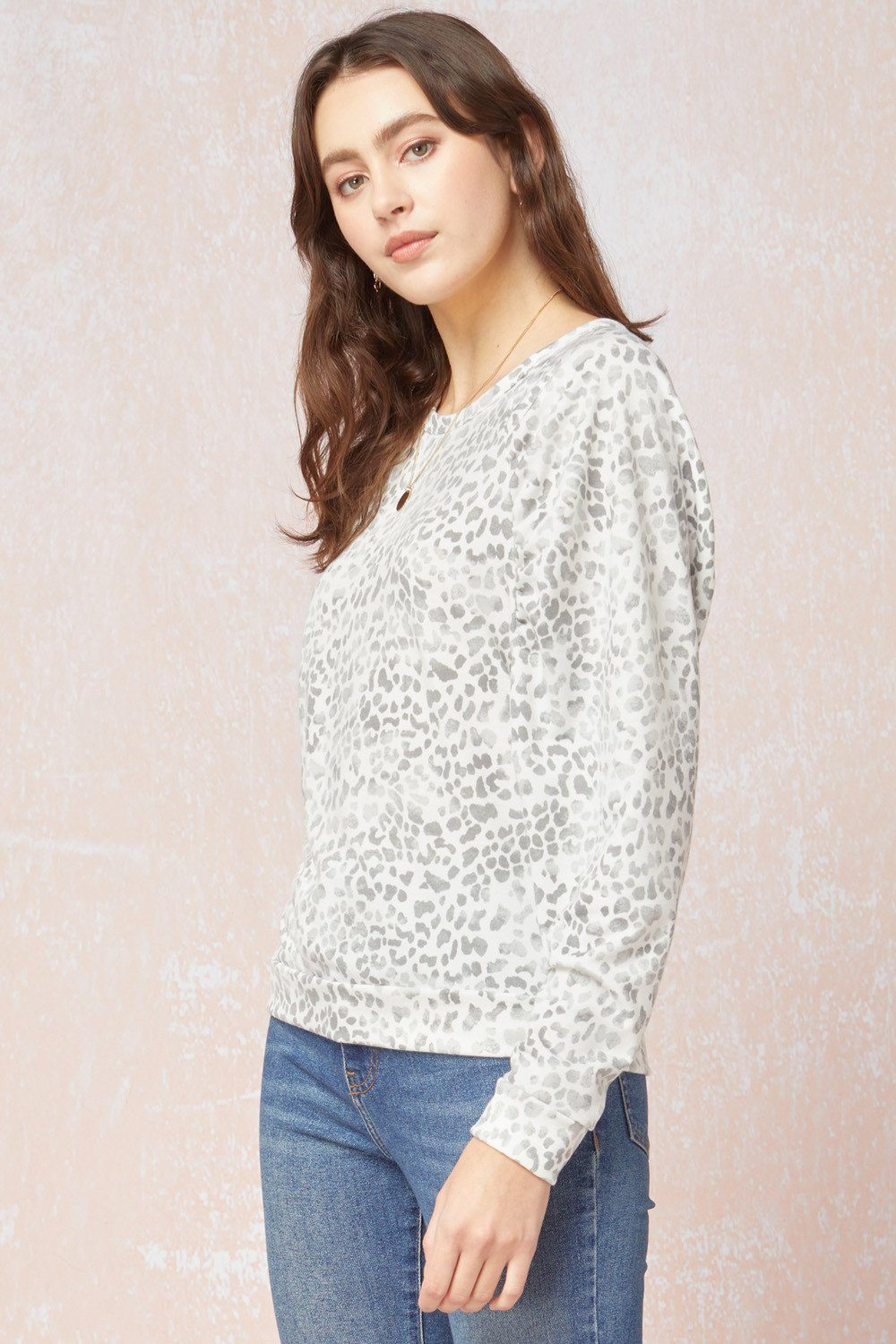 Leopard Puff Sleeve Top - Caroline Hill