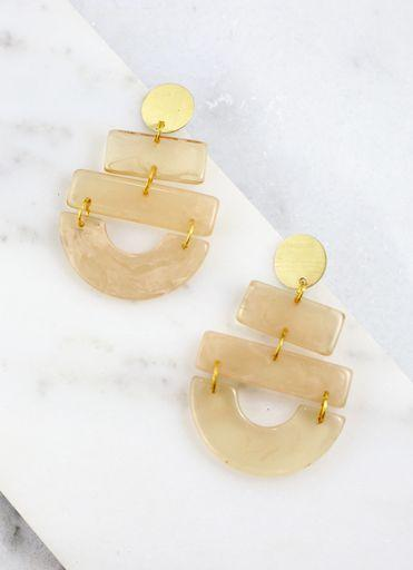 Lesser Triple Drop Earring Natural - Caroline Hill