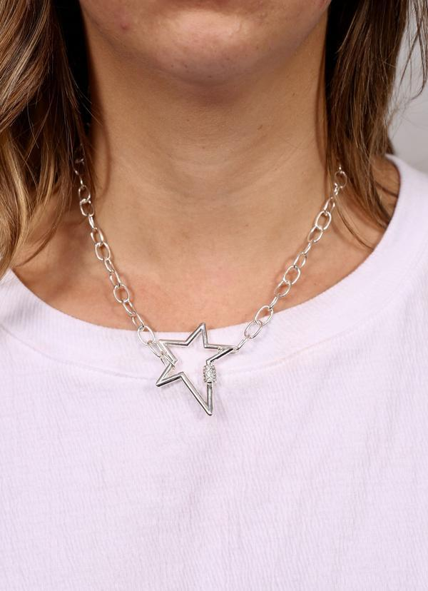 Lessie Star Necklace With Cz Accent Silver - Caroline Hill