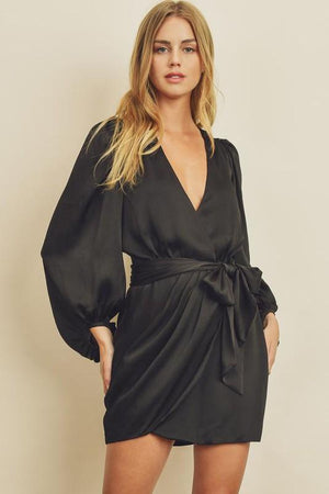 Let's Go Out Black Tie Dress - Caroline Hill