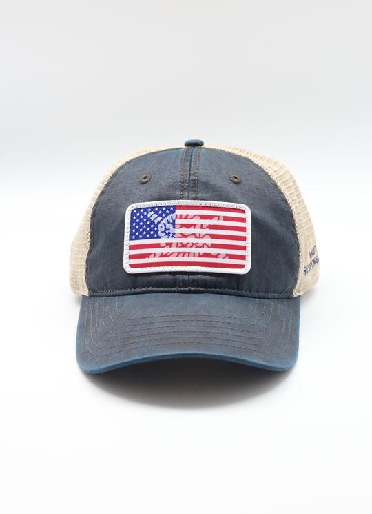 Limited Edition USA Patch Relaxed Trucker Hat - Washed Navy - Caroline Hill