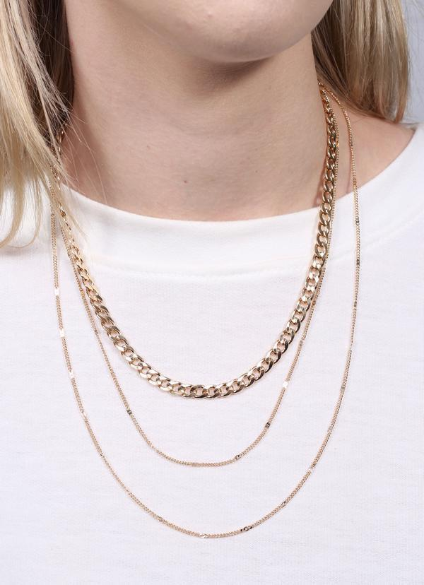 Linwood Triple Layered Necklace Gold - Caroline Hill