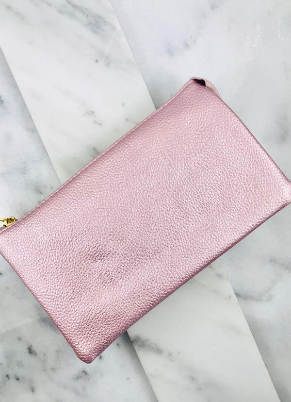 Liz Crossbody Bag Metallic Blush - Caroline Hill