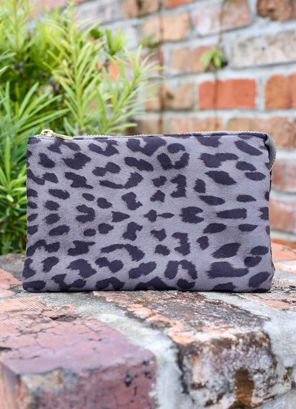 Liz Custom Collection Crossbody Gray Leopard - Caroline Hill