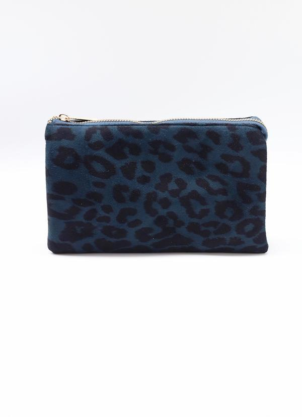 Liz Custom Collection Crossbody Peacock Blue Leopard - Caroline Hill