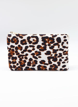 Liz Custom Collection Crossbody White Brown Leopard - Caroline Hill
