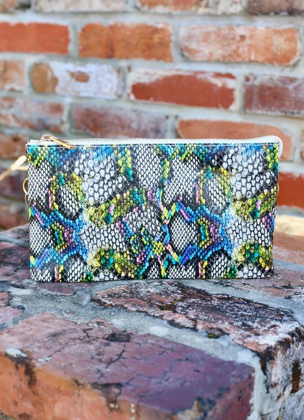 Liz Snake Blue Multi Crossbody - Caroline Hill