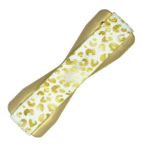 Love Handle Phone Grip Gold Leopard - Caroline Hill