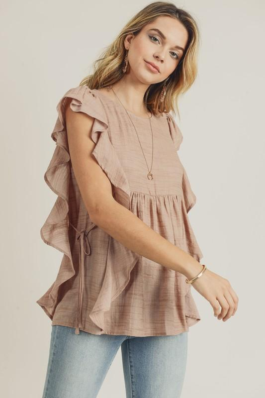 Love Is The Word Ruffle Top - Caroline Hill