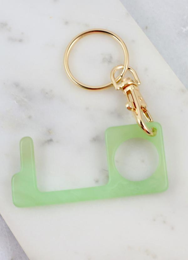 Lucinda Resin Safety Hook Keychain Green - Caroline Hill