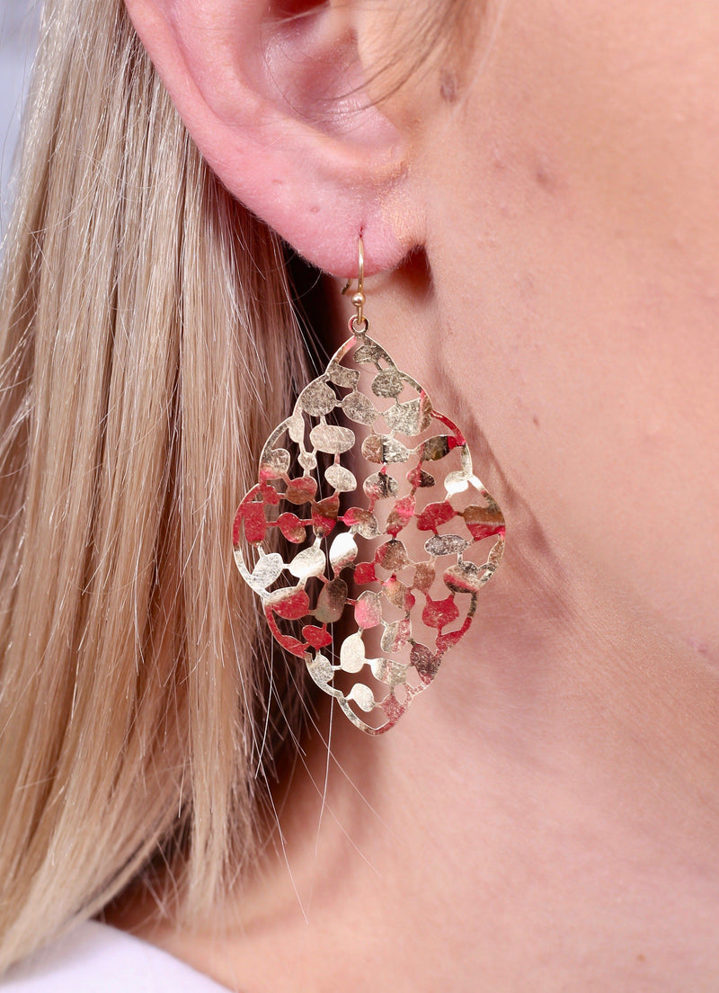 Mabry Worn Gold Metal Earring - Caroline Hill