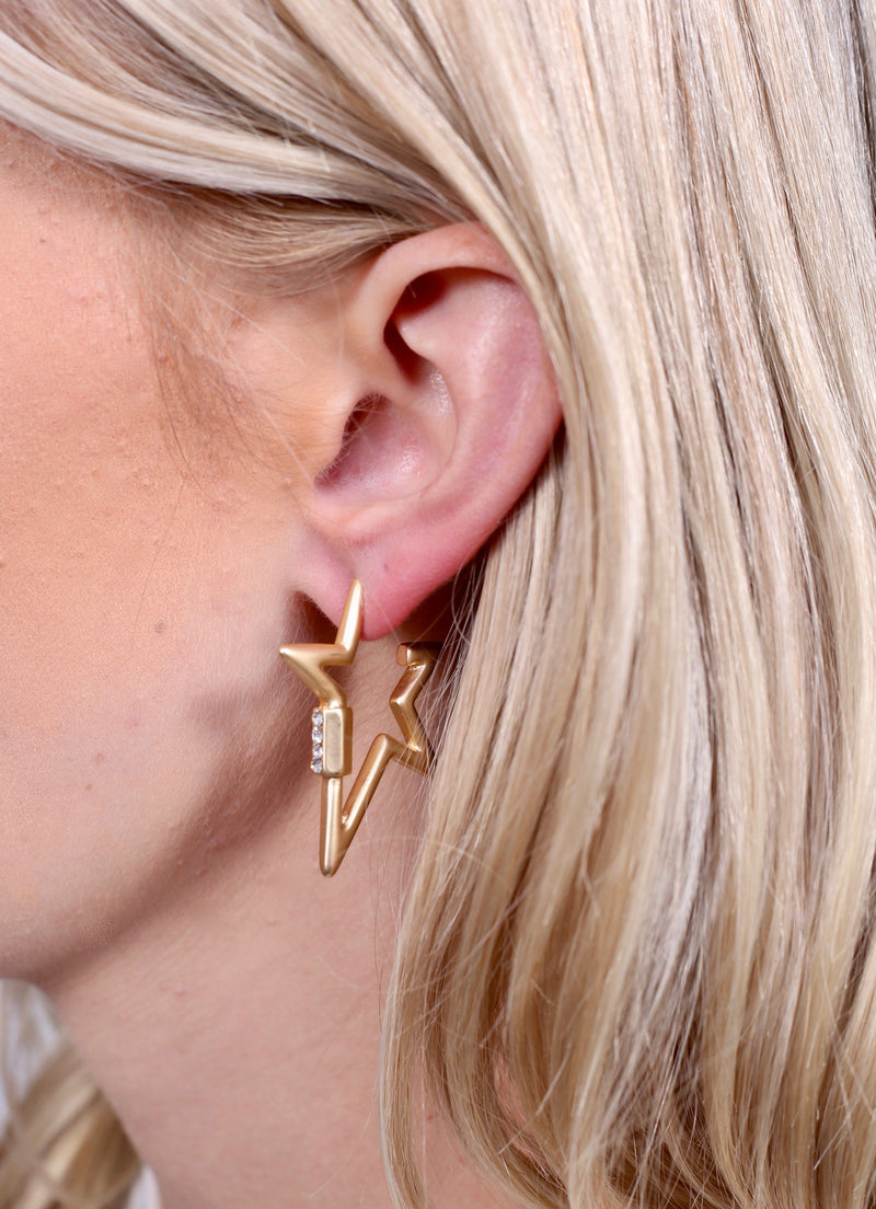Macki CZ Accent Gold Star Earring - Caroline Hill