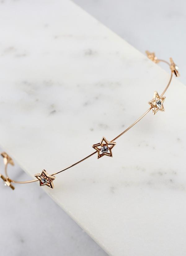 Marrit Cz Star Metal Headband Gold - Caroline Hill