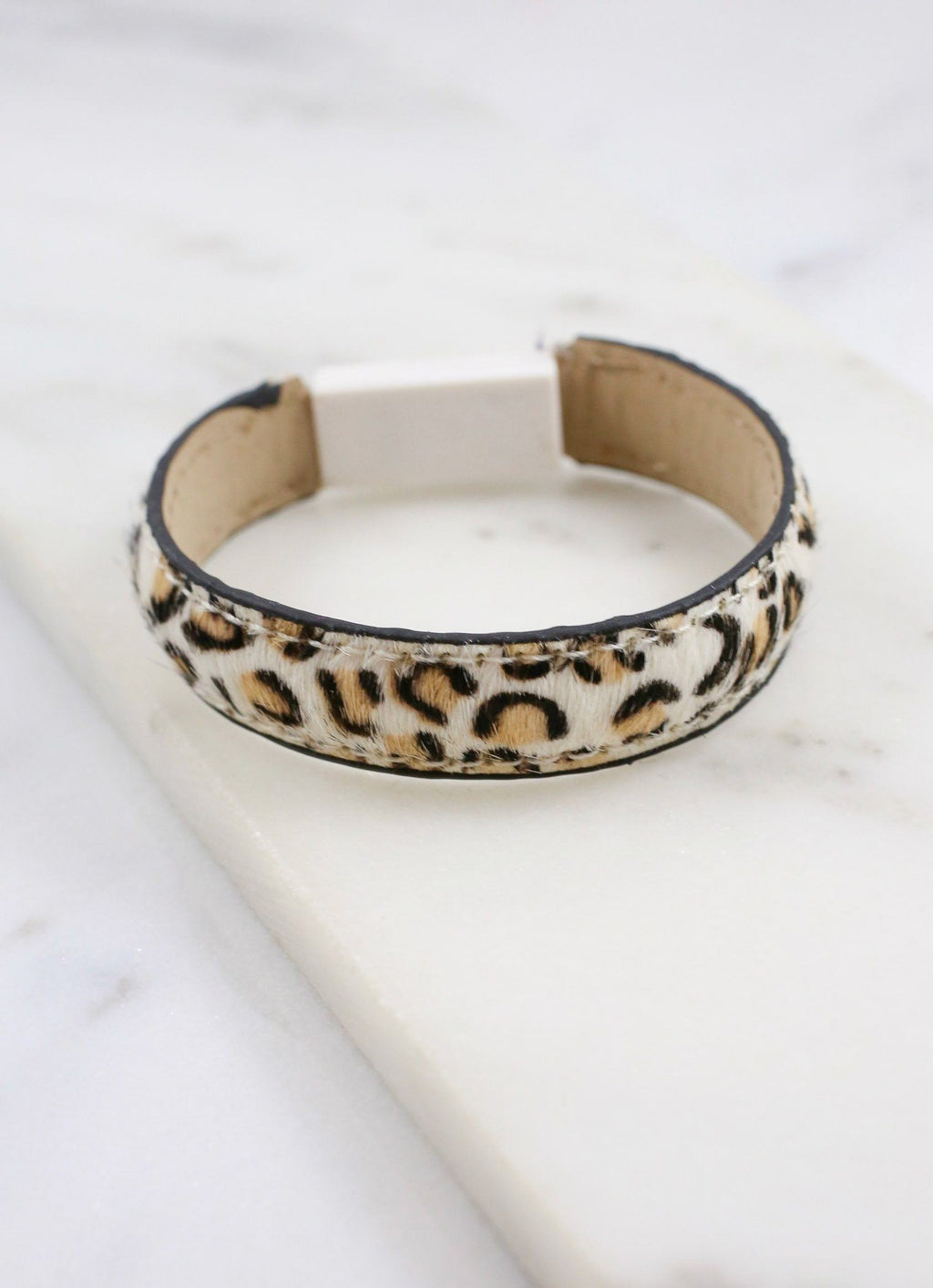 Mcglynn Animal Print Bracelet With Built In Usb Ivory Leopard - Caroline Hill