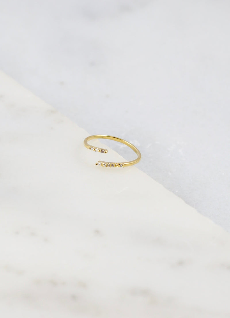 Meester Gold Thin Wrap Ring - Caroline Hill