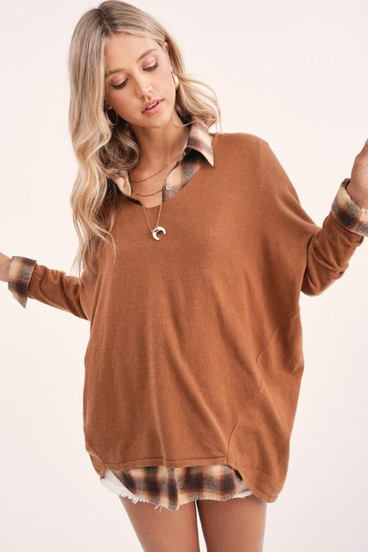Melly Lightweight Camel Sweater - Caroline Hill
